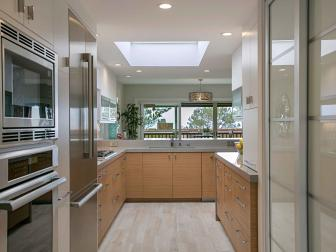 Neutral Contemporary Kitchen With Skylight