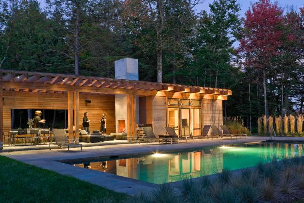 Chic Poolhouse for Entertaining