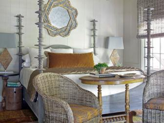 Coastal-Style Master Bedroom With Four-Poster Bed