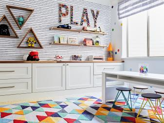 Bold Colored, Geometric Playroom