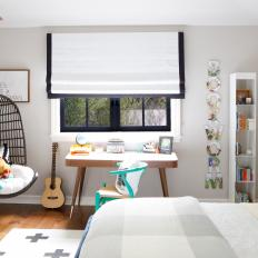Contemporary Black and White Boy's Bedroom