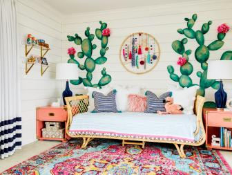 Colorful, Boho Chic Girlu0027s Room Inspired By Arizona Desert