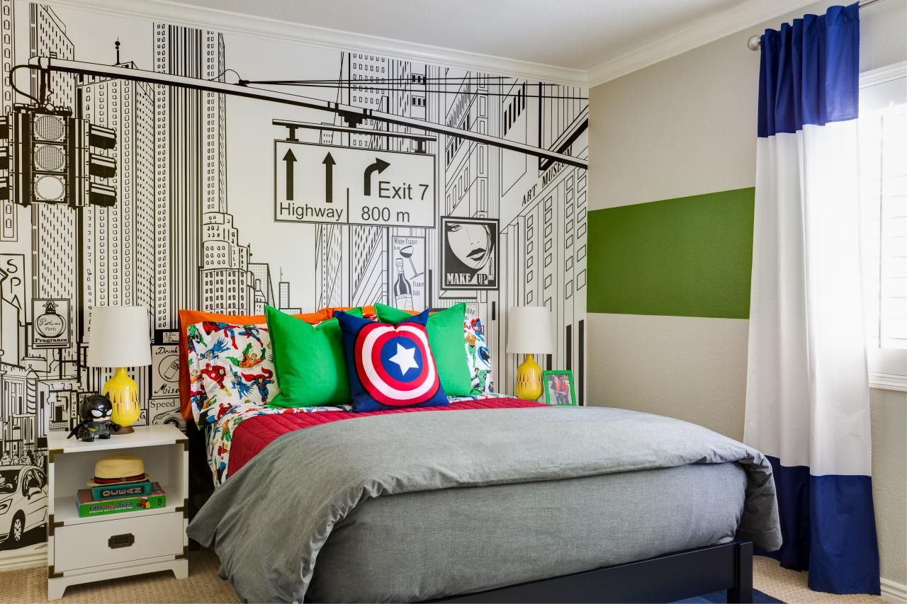 This superhero themed kid 39 s room will knock your socks off - Muebles habitacion nina ...
