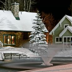 Crystal Mountain Resort Cottages in Winter