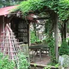 Pergola, Table and Chairs