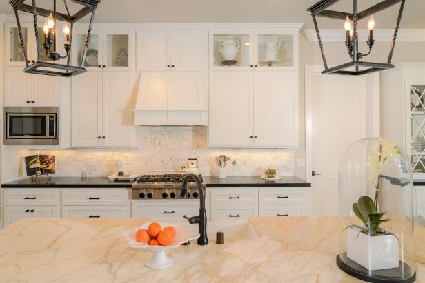 Kitchen With Lantern-Style Pendant Lights