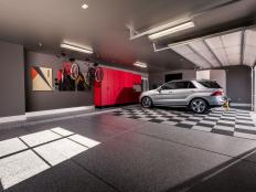 Designed to live large and showcase modern design details, the garage offers space to store three vehicles, plus bikes and outdoor gear.