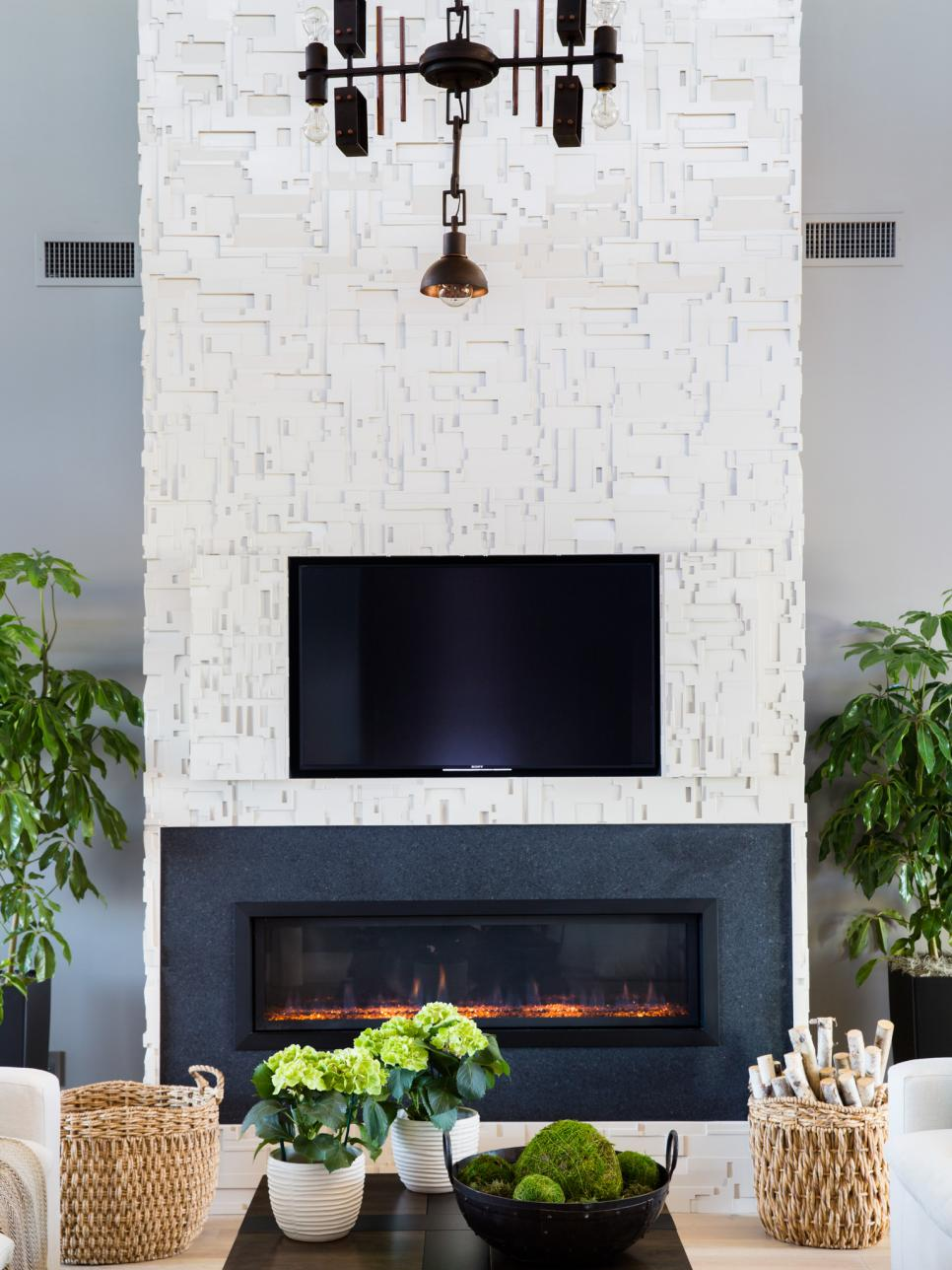 Pictures of the hgtv smart home 2017 great room hgtv for Great room fireplace