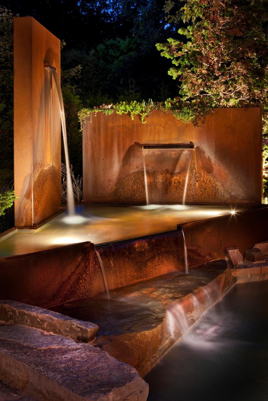 flagstone patio showcases stone steel sculptures 2017 hgtv. Black Bedroom Furniture Sets. Home Design Ideas