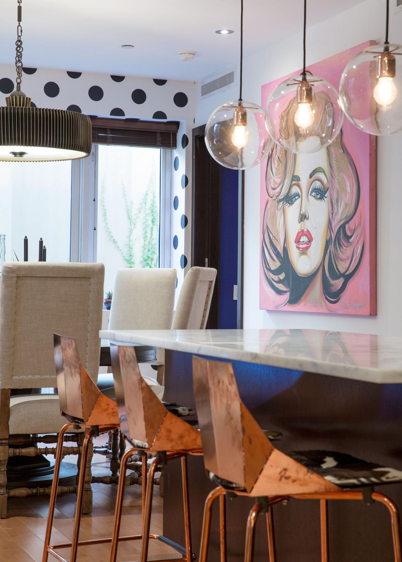 Dining Room Includes Pop Art Marilyn