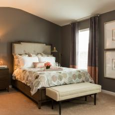 Transitional Master Bedroom gray transitional master bedroom photos | hgtv