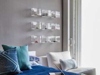 Contemporary Boy's Room With Pops of Blue