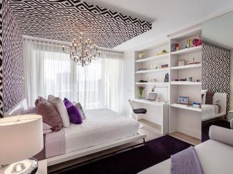 Trendy, Contemporary Girl's Room