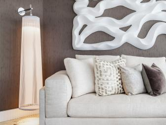 Details of Chic, Contemporary Living Room