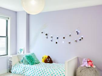 Purple Tween Room With Polka Dot Bedding