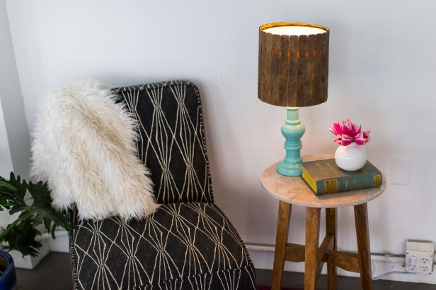 DIY Paintstick Lampshade