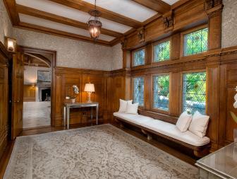 Tudor Hallway With Bench