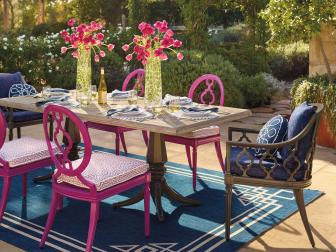 Incorporating color in your outdoor space is easy.
