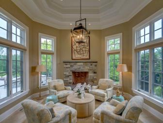 Traditional Living Room is Cozy, Inviting
