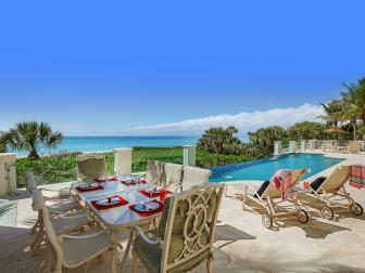 Beachfront Patio With Dining Table