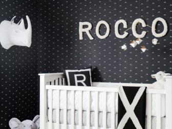 Comfortable, Black and White Nursery