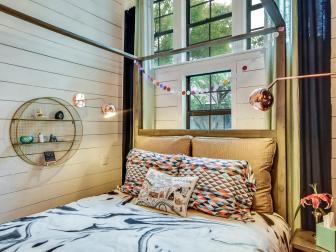 Canopy Bed in Eclectic Teen Bedroom