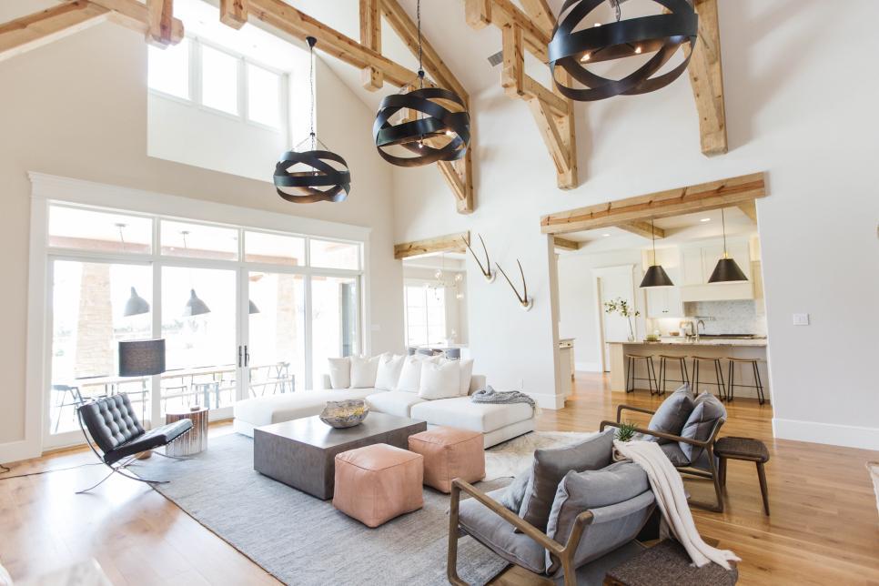 white scandinavian style living room and master bedroom. Black Bedroom Furniture Sets. Home Design Ideas