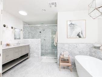 Expansive Spa-Like Bathroom Retreat