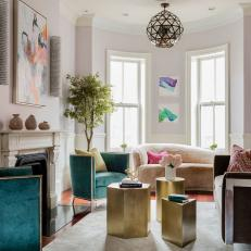 Bold, Eclectic Living Room