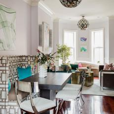 Open Dining and Living Rooms are Eclectic