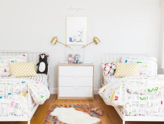 Multicolored Kids' Bedroom With Bear
