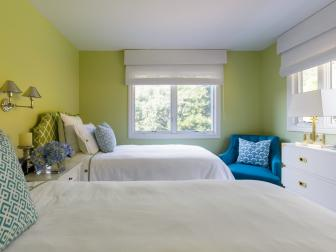 Color, Pattern Set Playful Tone in California Guest Room