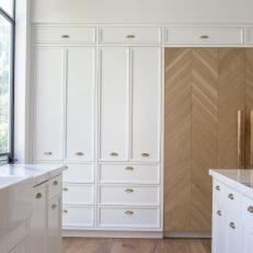 custom cabinets with brass cabinet hardware
