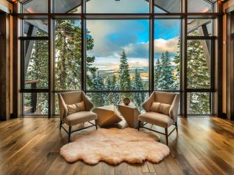 Cozy Sitting Area in Ski Getaway Living Room