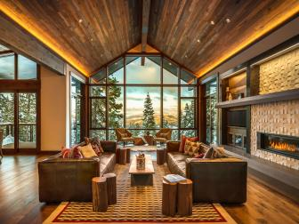Ski Getaway Living Room with Stunning Views