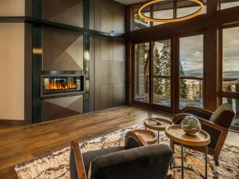 Ski Getaway Master Bedroom with Fireplace