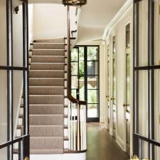 Colonial Home's Neutral Foyer