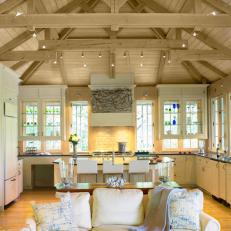 Windows Behind Kitchen Cabinets Showcase Home's Lake View