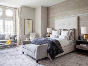 Subtle Patterns, Textures Create Serene Setting in Master Retreat