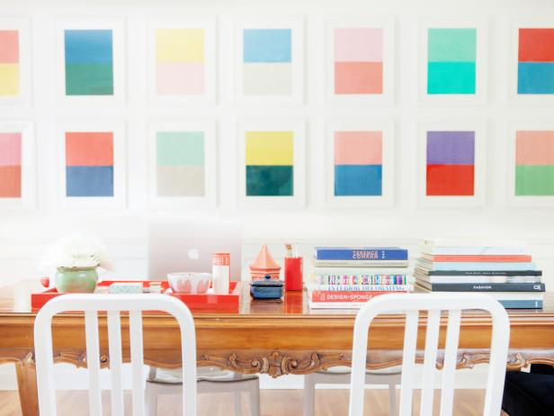 Colorful, Eclectic Dining Room