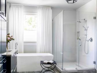 Contemporary Small Spa Bathroom With Glass Shower