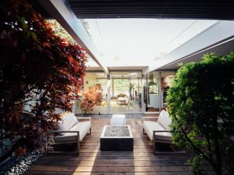 Modern Courtyard Layered with Clean Lines
