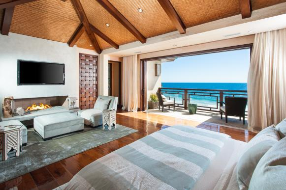 Neutral Contemporary Master Bedroom With Ocean View
