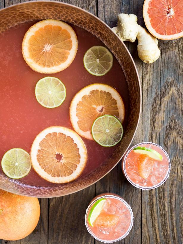 Ginger Grapefruit Bourbon Sour