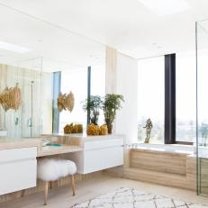 Bright and Airy Master Bathroom With Neutral Accents