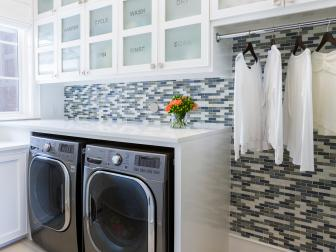 Laundry Room With Word Cabinets