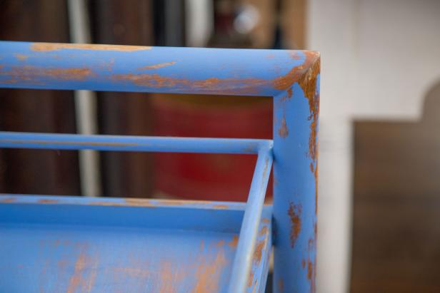Petroleum Jelly Distressed Furniture Beauty Detail