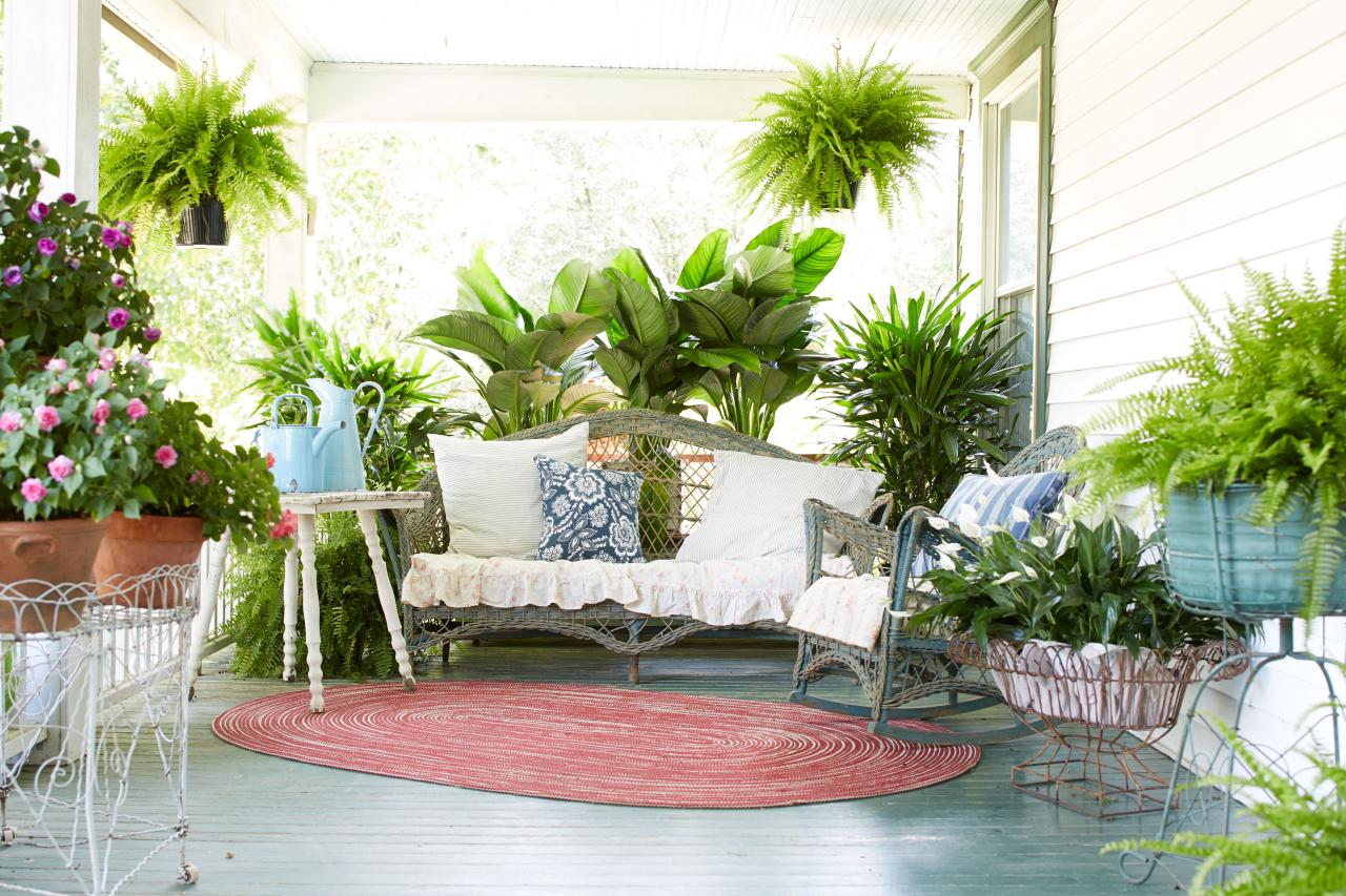 Decorate Your Porch With Ferns And Flowers Diy