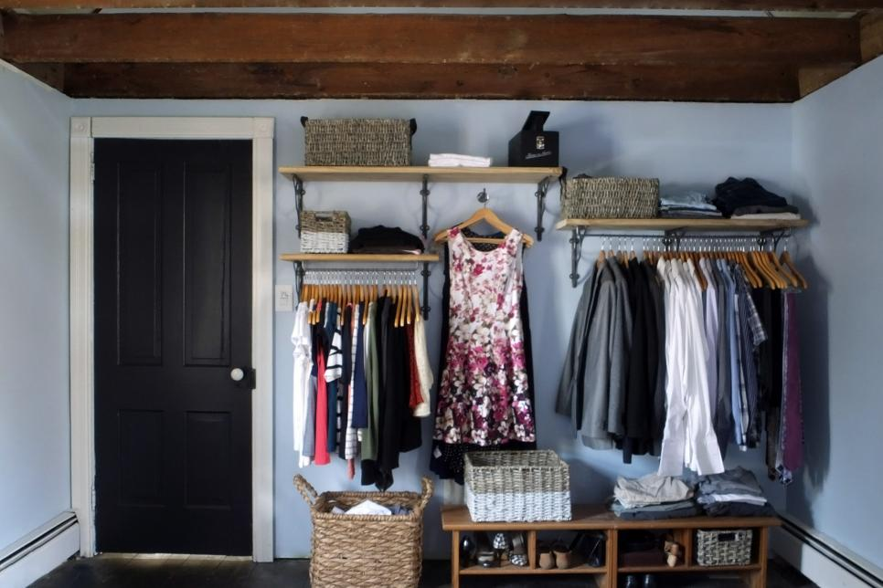 12 No Closet Clothes Storage Ideas | Room Makeovers To Suit Your Life | HGTV