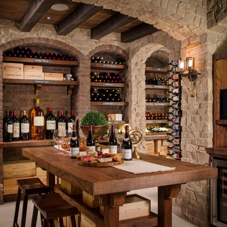Rooms viewer hgtv for Walk in wine cellar